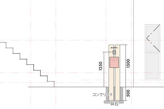 サイプレス製オリジナル門柱