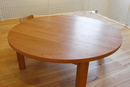 木蔵(BOKURA) R-21 リビングローテーブル ブラックチェリー無垢 ちゃぶ台